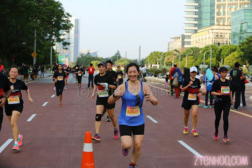 Approaching the Finish line! Thanks to one of the volunteer photographers.