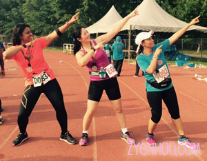 Farah, Adiah and I borrowing a pose from our idol, Usain Bolt