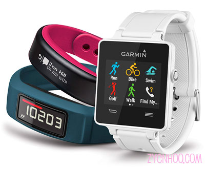 Vivofit watches and straps by Garmin. They are really pricey!