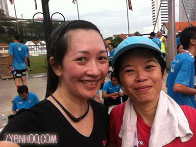 Me with former colleague, Ms Cheng who is also a running enthusiast (and a much faster one than I am!)