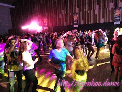 Social dancing on the dance floor!