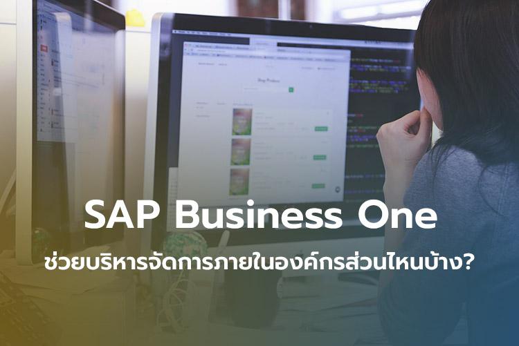 SAP Business One ช่วยบริหารจัดการภายในองค์กรส่วนไหนบ้าง?