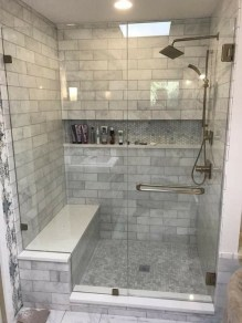 Adorable Master Bathroom Shower Remodel Ideas 36