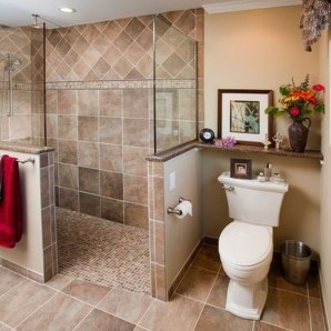 Adorable Master Bathroom Shower Remodel Ideas 47