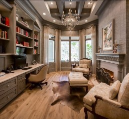 Cozy And Elegant Office Décor Ideas 14