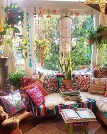 Cozy Bohemian Living Room Design Ideas 02