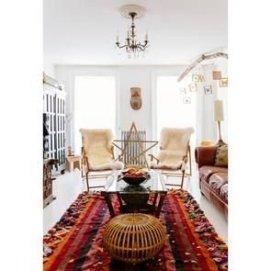 Cozy Bohemian Living Room Design Ideas 04