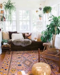 Cozy Bohemian Living Room Design Ideas 10