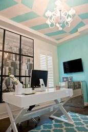 Elegant Blue Office Decor Ideas 11