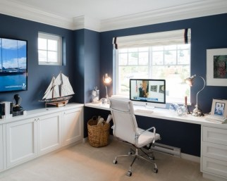 Elegant Blue Office Decor Ideas 13