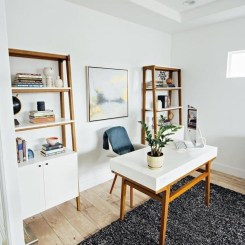 Elegant Blue Office Decor Ideas 19