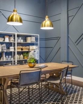Elegant Blue Office Decor Ideas 32