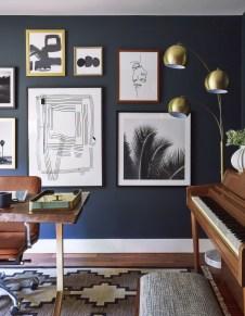 Elegant Blue Office Decor Ideas 33