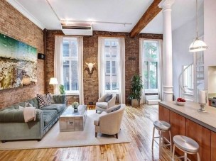 Elegant Exposed Brick Apartment Décor Ideas 02