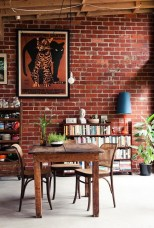 Elegant Exposed Brick Apartment Décor Ideas 05