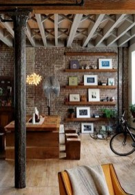Elegant Exposed Brick Apartment Décor Ideas 12