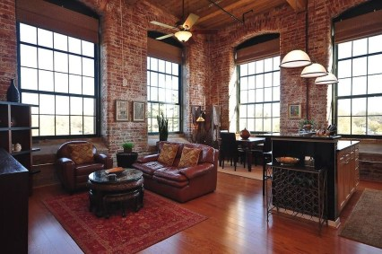 Elegant Exposed Brick Apartment Décor Ideas 19