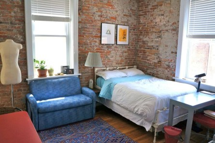 Elegant Exposed Brick Apartment Décor Ideas 29