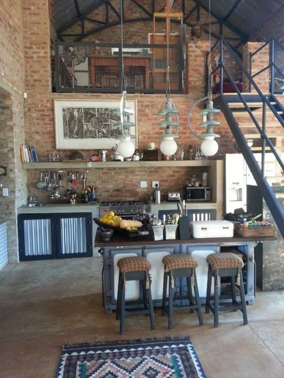 Elegant Exposed Brick Apartment Décor Ideas 30