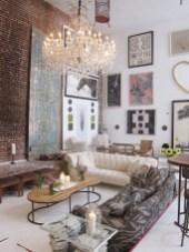 Elegant Exposed Brick Apartment Décor Ideas 35