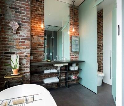 Elegant Exposed Brick Apartment Décor Ideas 40