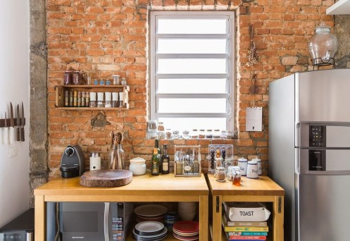Elegant Exposed Brick Apartment Décor Ideas 41