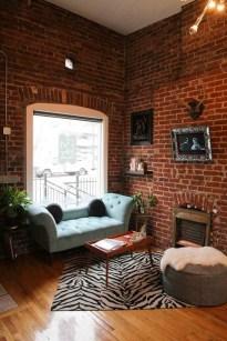 Elegant Exposed Brick Apartment Décor Ideas 43