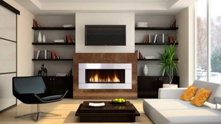 Inspiring Corner Fireplace Ideas In The Living Room 18