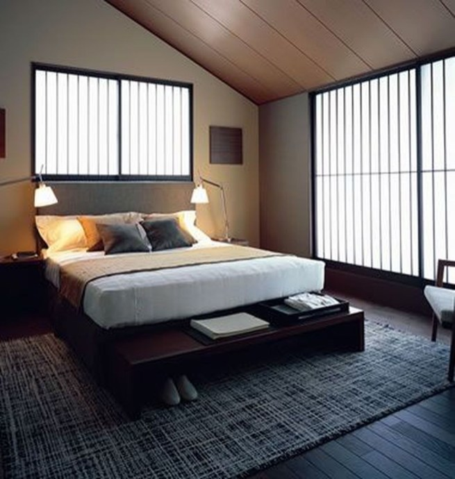Modern But Simple Japanese Styled Bedroom Design Ideas 19