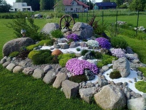 RSimple Rock Garden Decor Ideas For Front And Back Yard 01