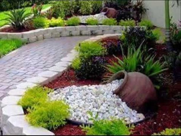 RSimple Rock Garden Decor Ideas For Front And Back Yard 08