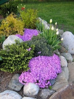 RSimple Rock Garden Decor Ideas For Front And Back Yard 37