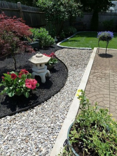 RSimple Rock Garden Decor Ideas For Front And Back Yard 47