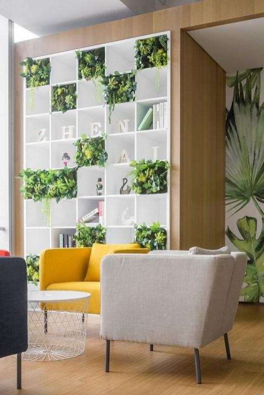 Relaxing Green Office Décor Ideas 35