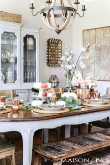 Awesome French Farmhouse Fall Table Design 40