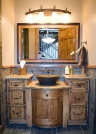 Awesome Rustic Farmhouse Vanities Ideas 19