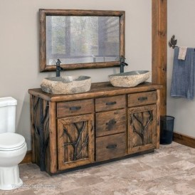 Awesome Rustic Farmhouse Vanities Ideas 23