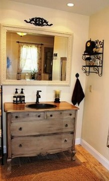 Awesome Rustic Farmhouse Vanities Ideas 27