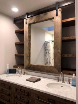 Awesome Rustic Farmhouse Vanities Ideas 34