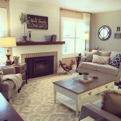 Comfy Rustic Living Room Decor Ideas 04