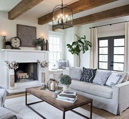 Comfy Rustic Living Room Decor Ideas 27