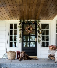 Cozy Fall Porch Farmhouse Style 04