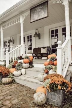Cozy Fall Porch Farmhouse Style 16