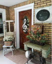 Cozy Fall Porch Farmhouse Style 28