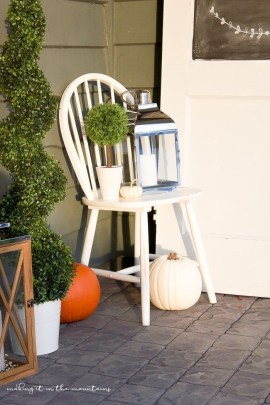 Cozy Fall Porch Farmhouse Style 34
