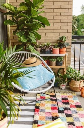 Perfect Small Balcony Design Ideas 40