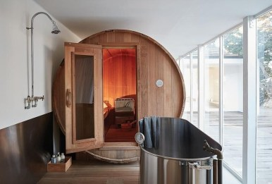 Wonderful Home Sauna Design Ideas 20