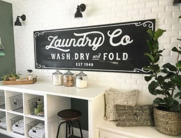 Amazing Diy Laundry Room Makeover With Farmhouse Style Ideas 30