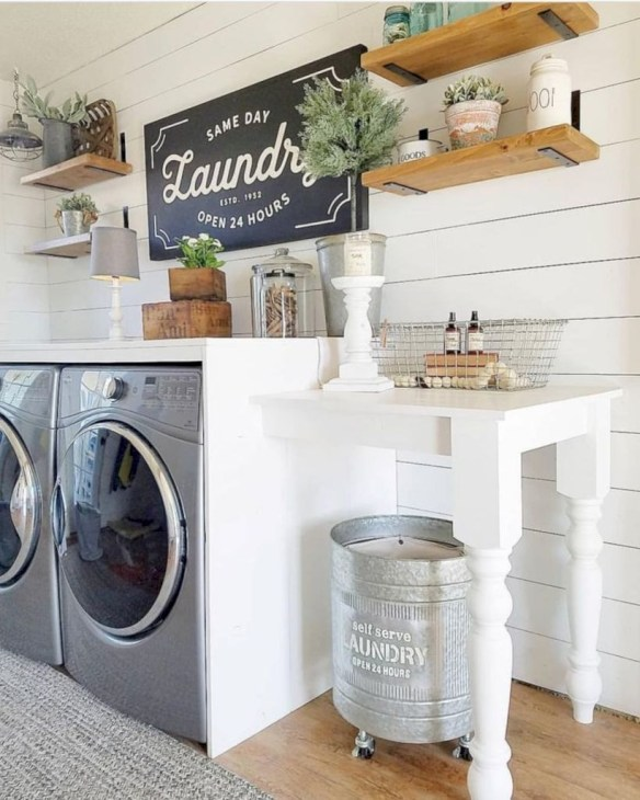 Amazing Diy Laundry Room Makeover With Farmhouse Style Ideas 45