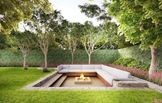 Attractive Sunken Ideas For Backyard Landscape 02